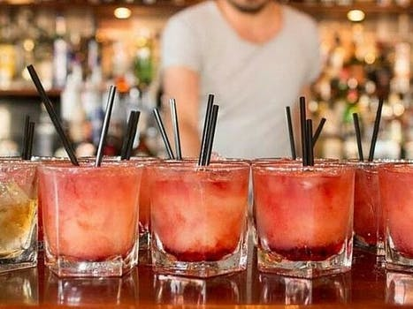 A beautiful lineup of cocktails