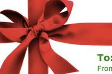 Gift Card Red Ribbon