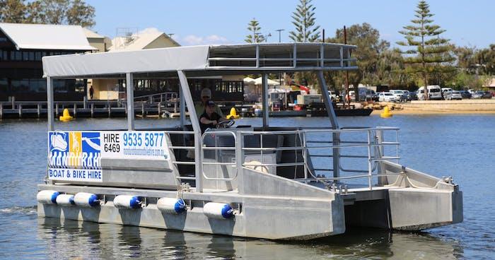 12 Person Large Pontoon (Rambo) | Mandurah Boat & Bike Hire