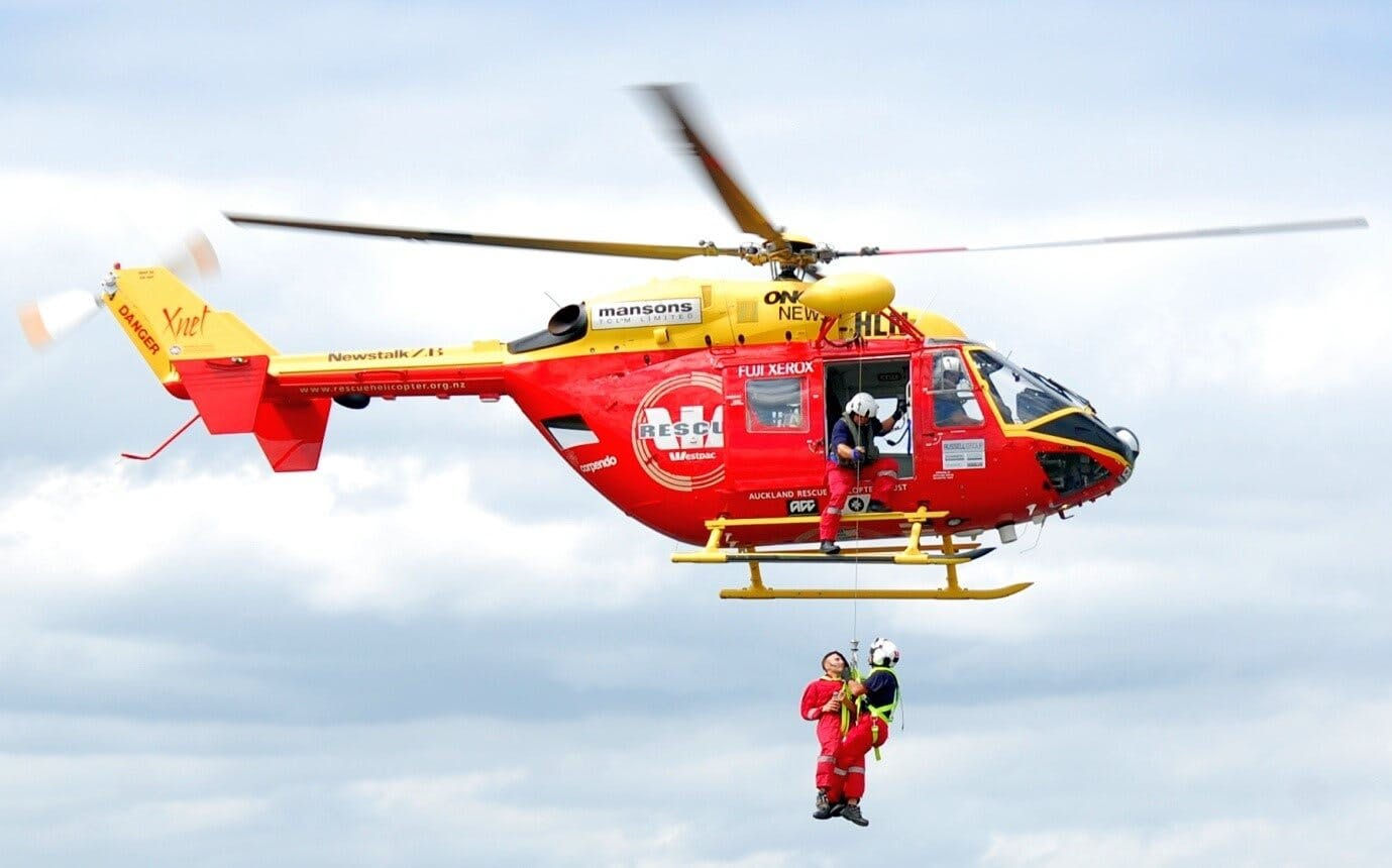 The Westpac helicopter is used for a wide range of rescue operations.