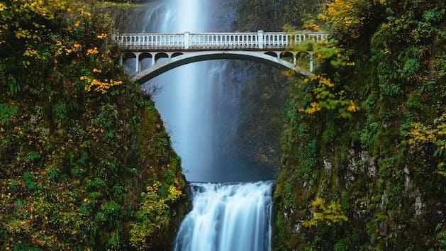 Historic Benson Bridge at Multnomah Falls