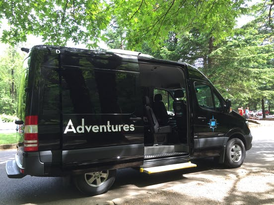 Luxury transportation during Wildwood Adventures tours