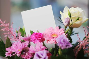 Mothers Day Celebrations with bouquet of flowers