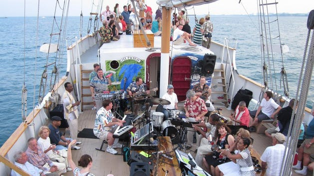 Marshall Vente playing jazz on the open sea