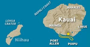 Kauai Ocean Map