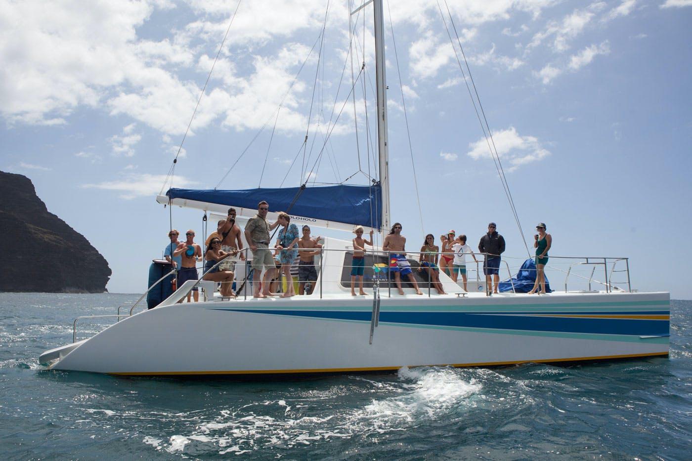 sailing catamaran Kauai