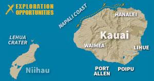 Kauai tour map