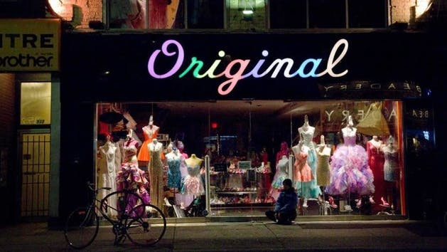 Original Storefront at Night, Toronto