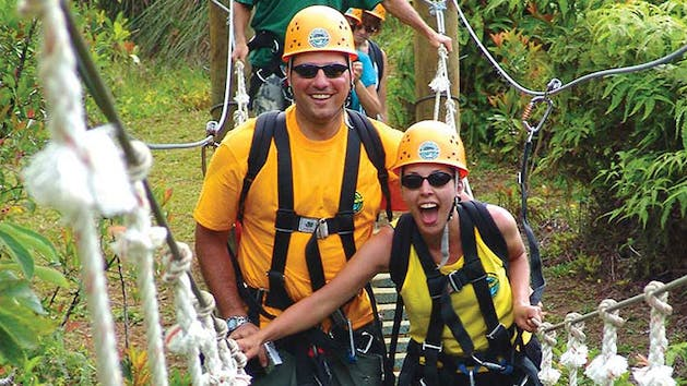 Couple-Ziplining-in-Kauai