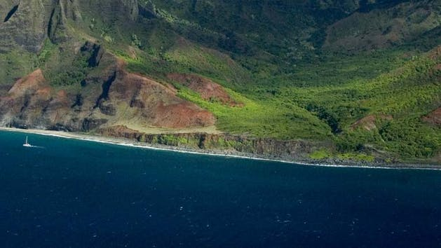 Napali Coast Aerial Image