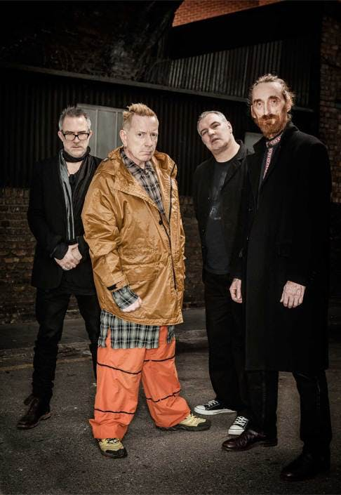 Public Image Ltd: left to right: Bruce Smith, John Lydon, Scott Firth, Lu Edmonds Photo:© Paul Heartfield
