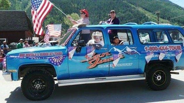 San Juan Backcountry blue 4x4 truck