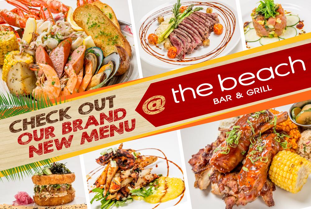 The Beach Bar & Grill New Menu
