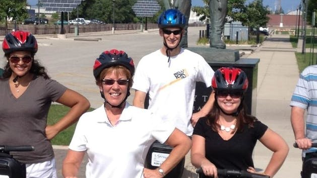 After Hours Glide tour, small group on Segways