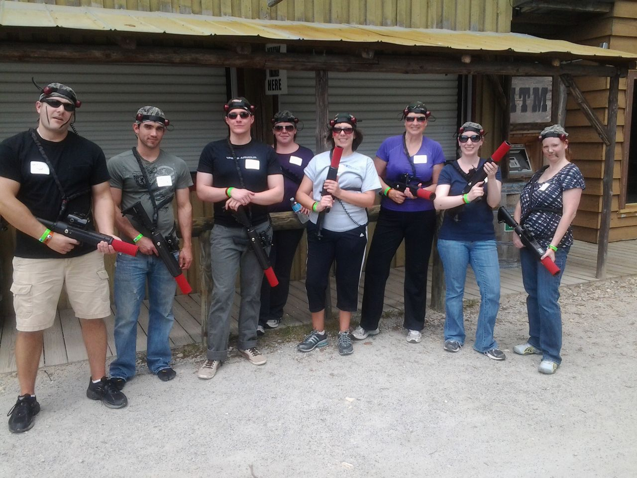 laser tag for team building