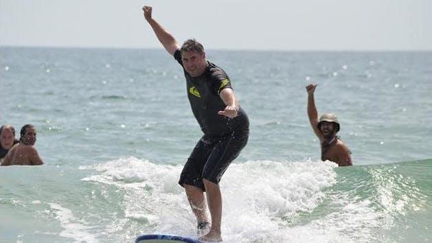 Men surfing