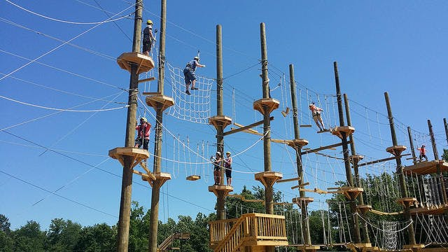 High Ropes Course Near Greensboro Nc Kersey Valley High