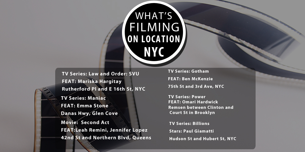 filming in new york today