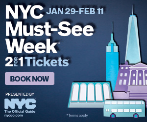 nyc must see week 2 for 1 tickets