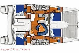 Leopard 47 Power Cat layout