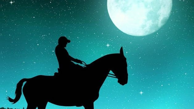 Horseback moonlight tours