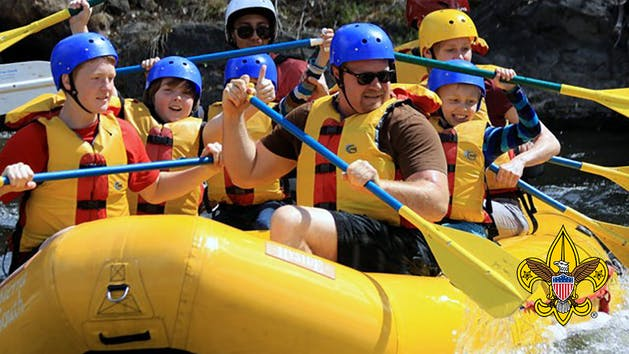Camp Whitsett Lickety Blaster Rafting Scouts