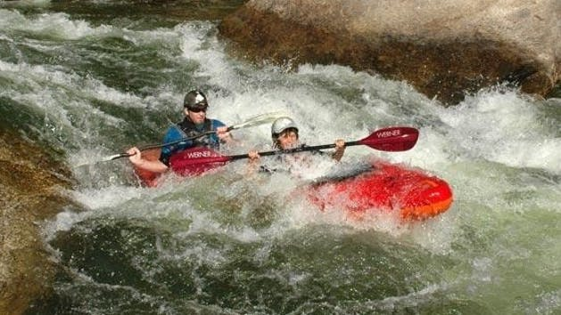 Dynamic Duo Whitewater Kayaking Kern River Sierra South