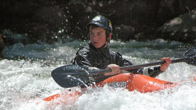 Sierra South Kayaking Youth 101 Class Kern River