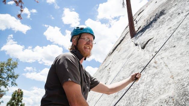 Climbing instructor teaches Rock Climbing Full Day
