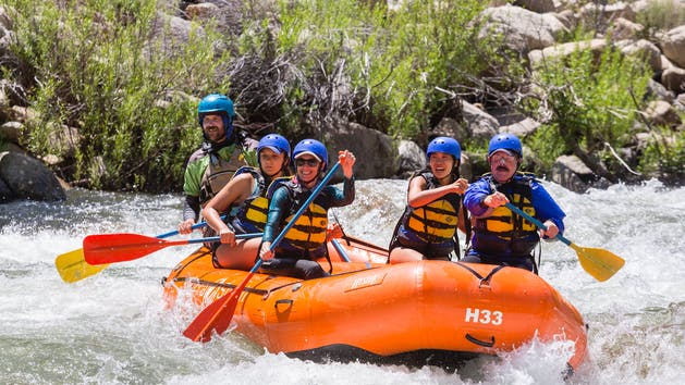 Sierra South Lickety Blaster family rafting