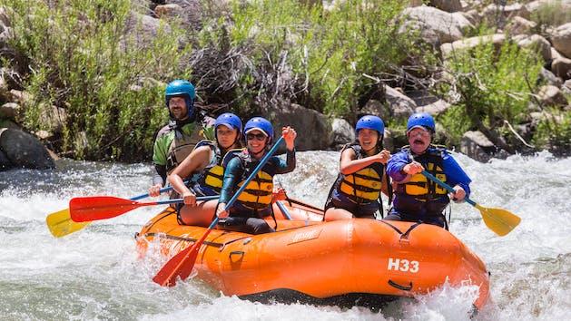Sierra South Lickety Blaster family rafting