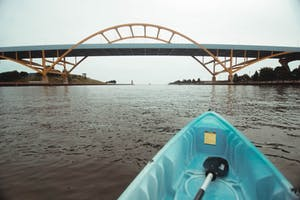 Kayaking Milwaukee Hoan Bridge