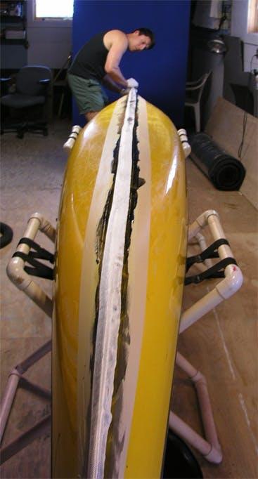 Make the fiberglass straight