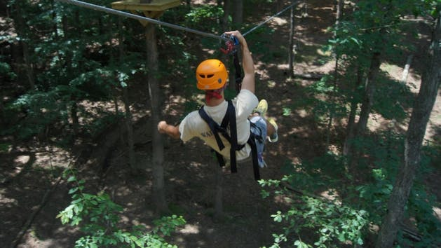 Teen on Canopy Challenge Course