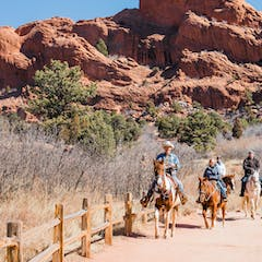Horseback Riding At The Garden Of The Gods In Colorado Springs Academy Riding Stables