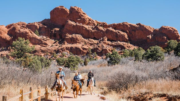 Garden Of The Gods Horseback Rides I Academy Riding Stables