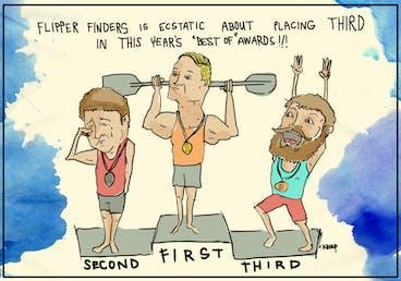Flipper Finders award illustration