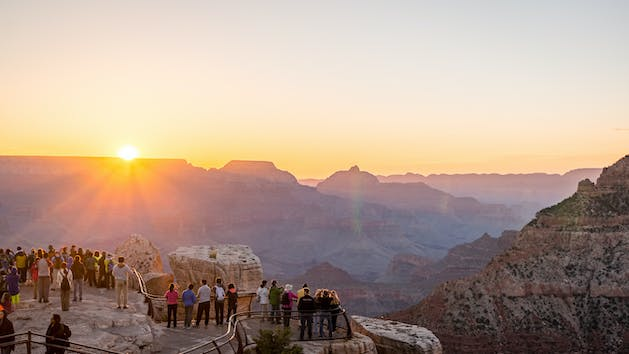 Mather Viewpoint at Grand Canyon South Rim with Buck Wild Hummer Tours