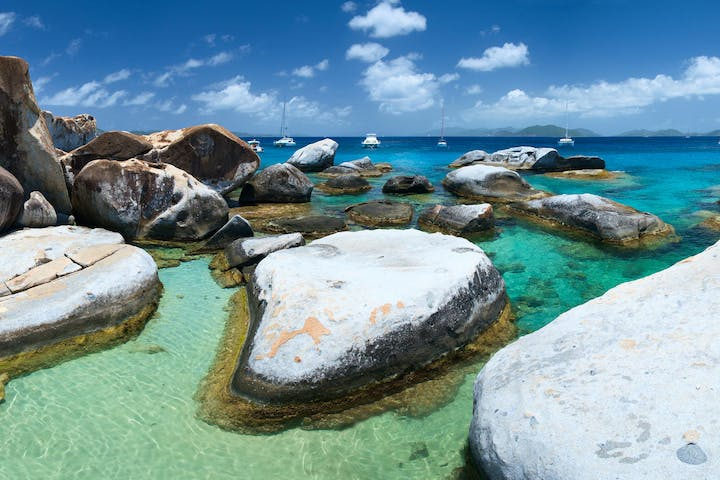 Virgin Islands photo of huge rock outcropping