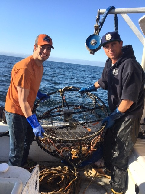 greg and guy with crab pot