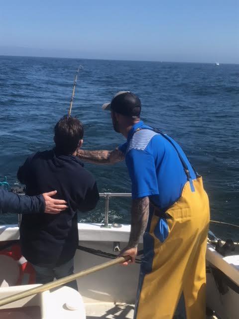 Tim helping reel