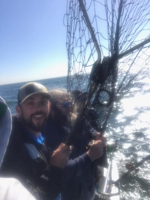Tim on rail salmon day