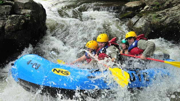 People Rafting the Upper Yough