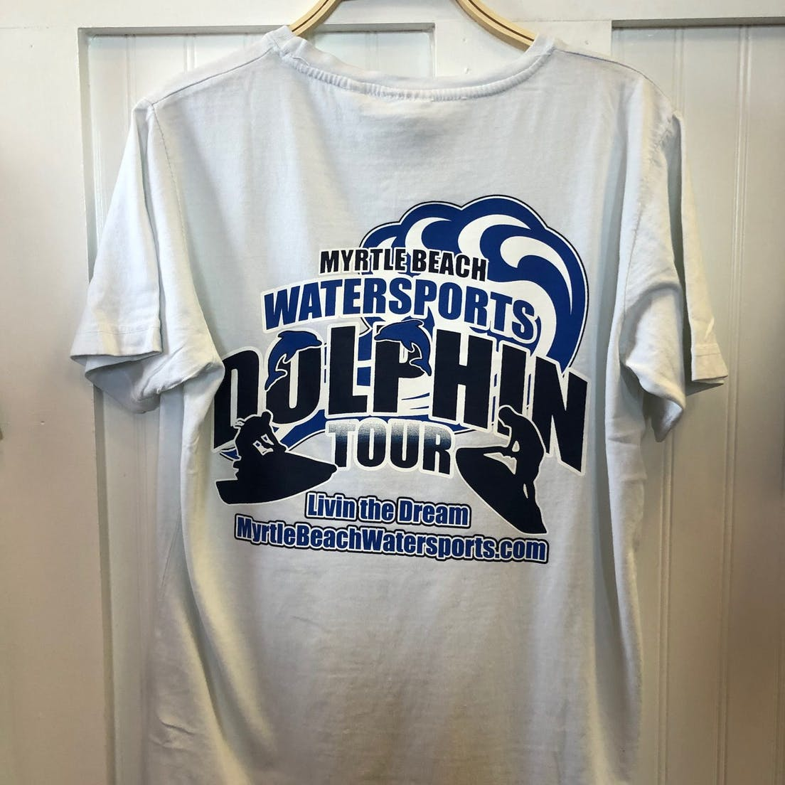 white dolphin tour shirt back