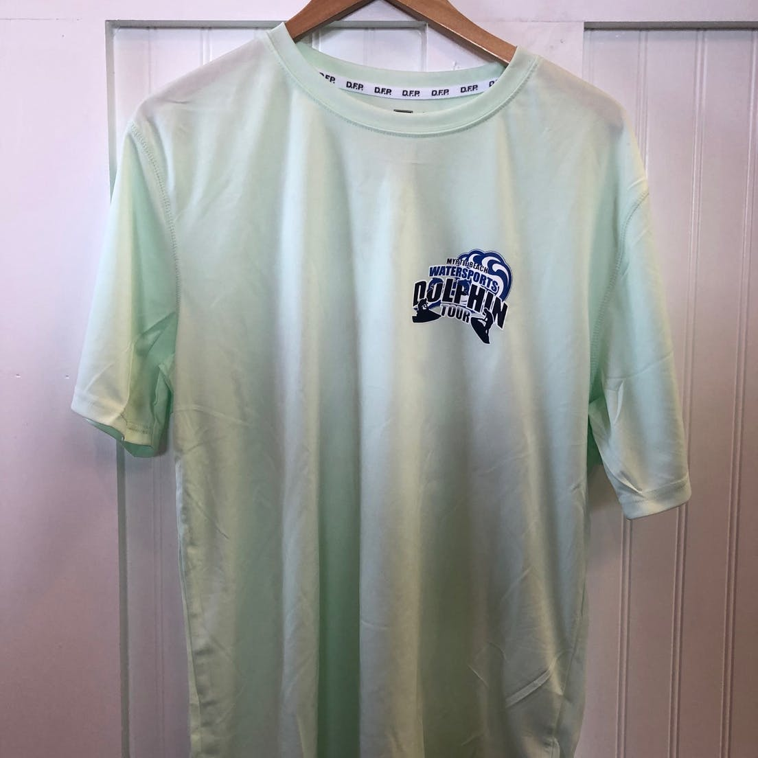 light green dri fit tshirt front