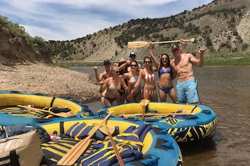 Group tubing on Colorado River