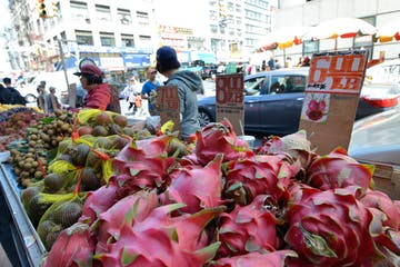 Red Dragon Fruit in NYC Street Market