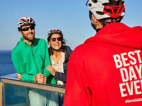 Bicycle touristic tour, Donostia, San Sebastian, Gipuzkoa, Spain, Europe