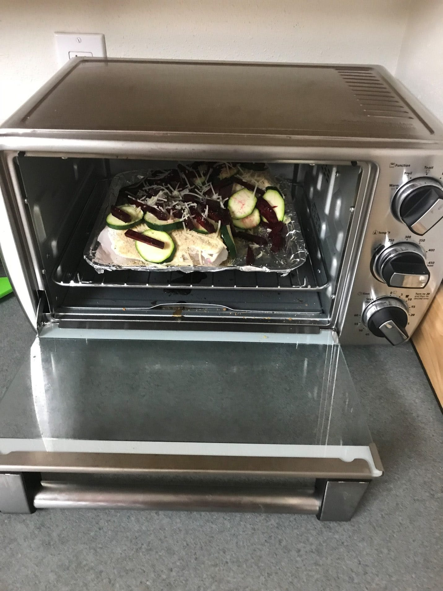 veggies in the oven