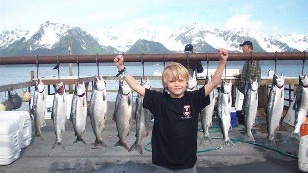 Silver Salmon & Black Bass Half Day Fishing Charter